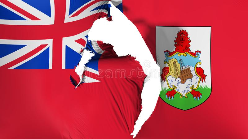 Uszkadzająca Bermuda flaga royalty ilustracja