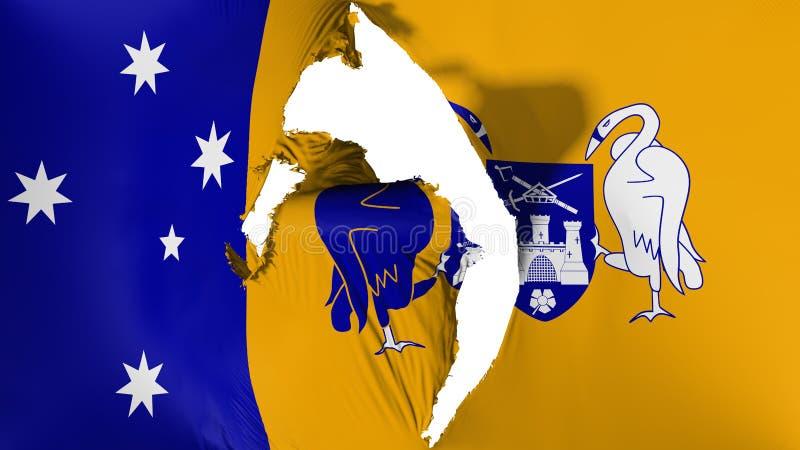 Uszkadzająca Canberra flaga ilustracja wektor