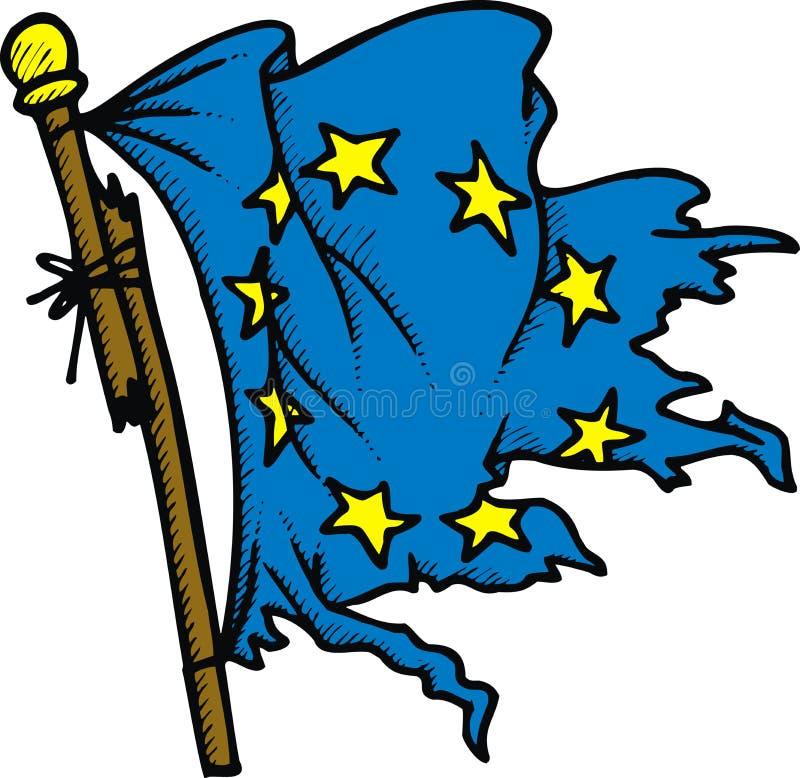 Uszkadzająca europejczyk flaga ilustracji