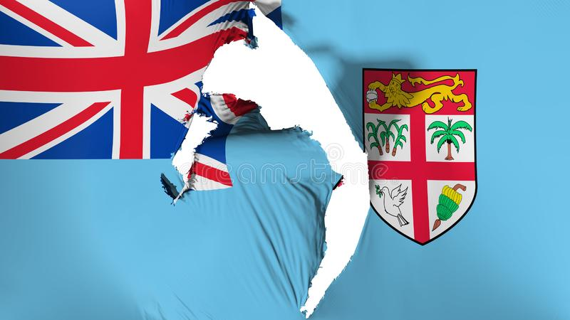 Uszkadzająca Fiji flaga ilustracja wektor
