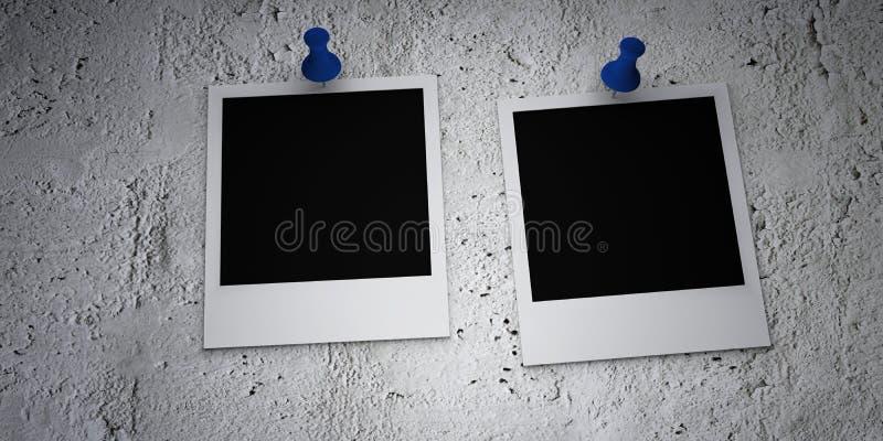 uszkadzająca filmy przyczepiająca polaroidu ściana ilustracji