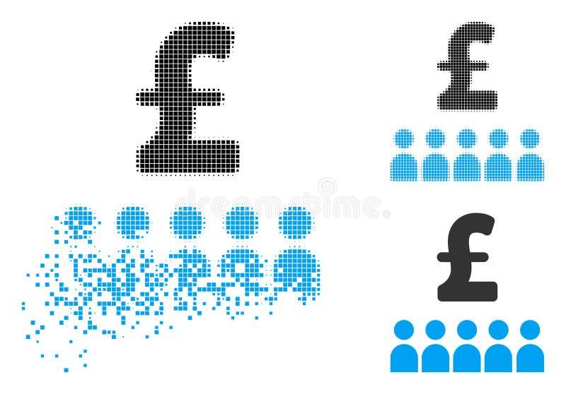 Uszkadzająca Kropkowanego Halftone edukaci Brytyjska Biznesowa ikona ilustracji