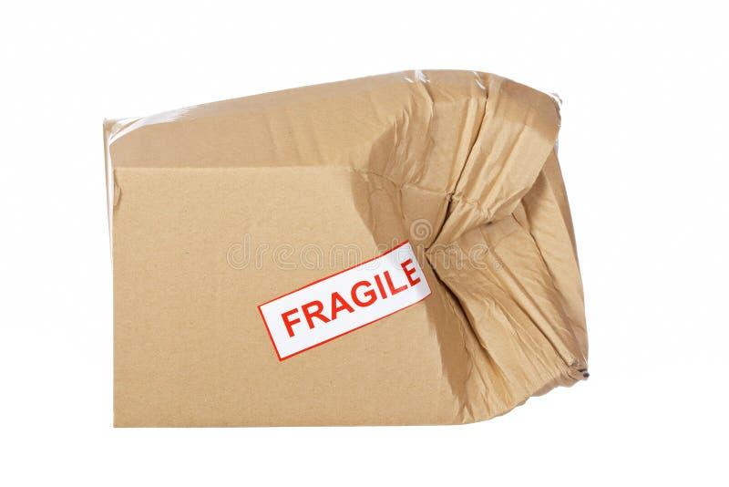 uszkadzający pudełkowaty karton fotografia royalty free