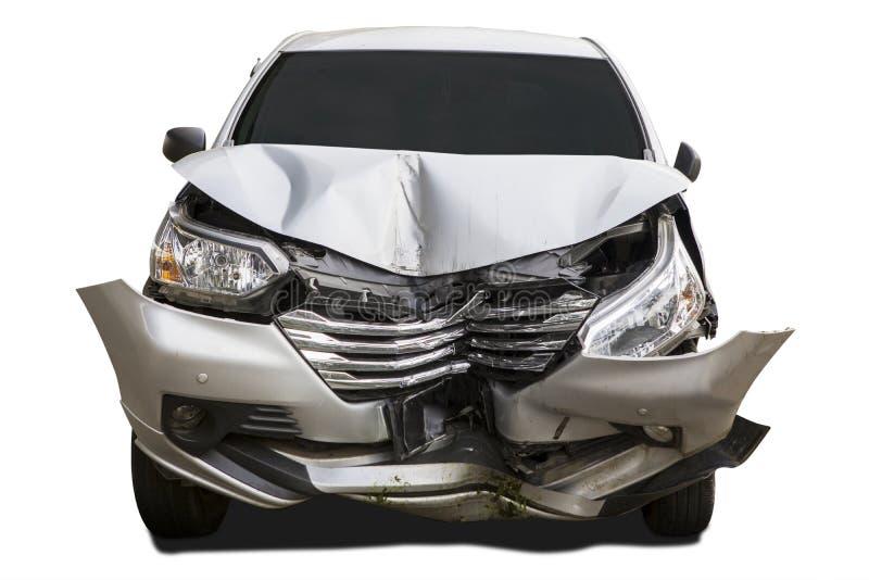 Uszkadzający samochód wypadkiem obrazy royalty free