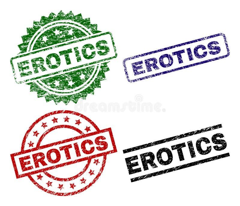 Uszkadzający Textured erotyk foki znaczki ilustracji
