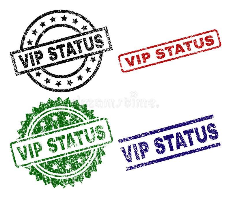 Uszkadzający Textured VIP statusu foki znaczki ilustracja wektor