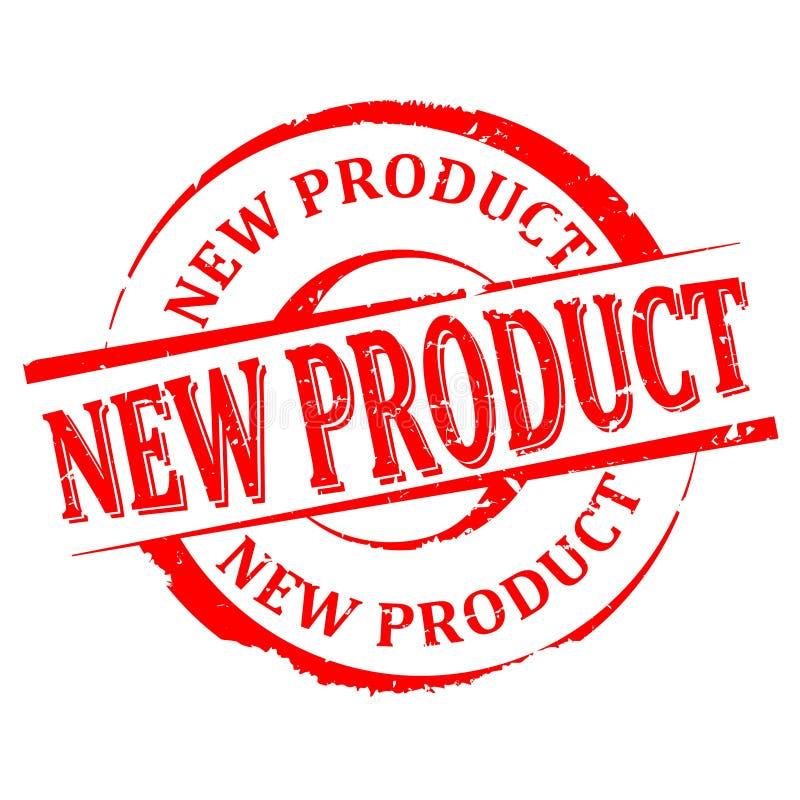 Uszkadzający wokoło czerwień znaczka z słowem wektor - nowy produkt - royalty ilustracja