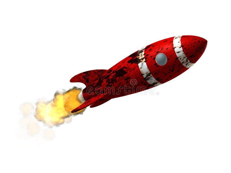 uszkodzona rakiety przestrzeni ilustracji
