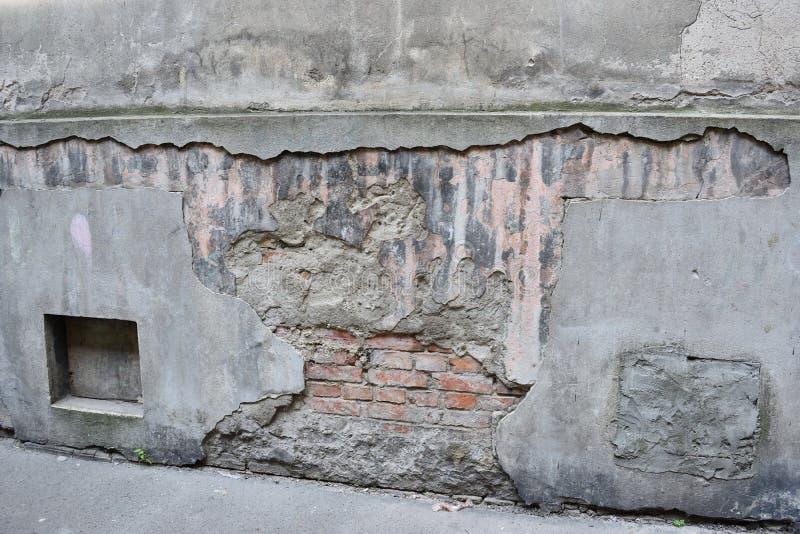 uszkodzona stara ściany fotografia stock