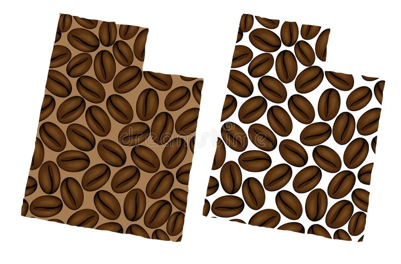 Utá - mapa do feijão de café ilustração do vetor