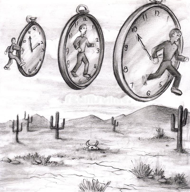 ut tid till stock illustrationer