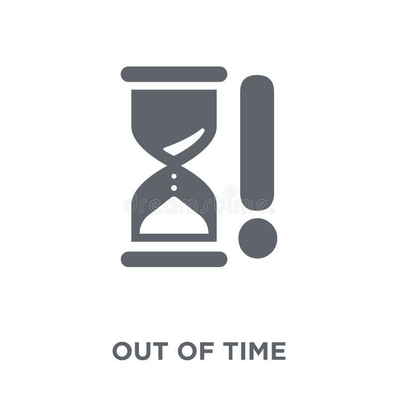 Ut ur tidsymbol från Tid managemnetsamling royaltyfri illustrationer