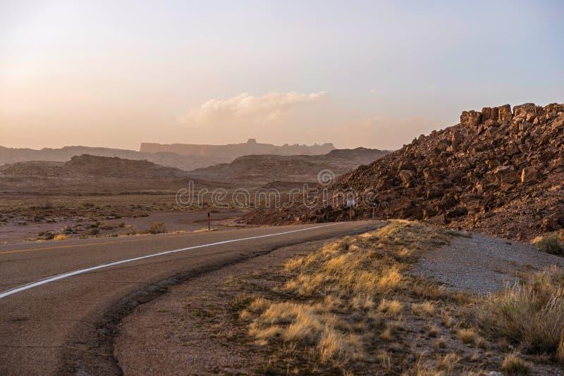 Utah ökenväg royaltyfri bild