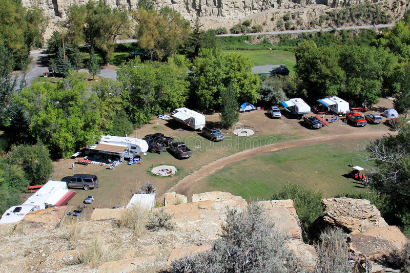 Utah: Στρατοπέδευση rv στοκ εικόνα με δικαίωμα ελεύθερης χρήσης