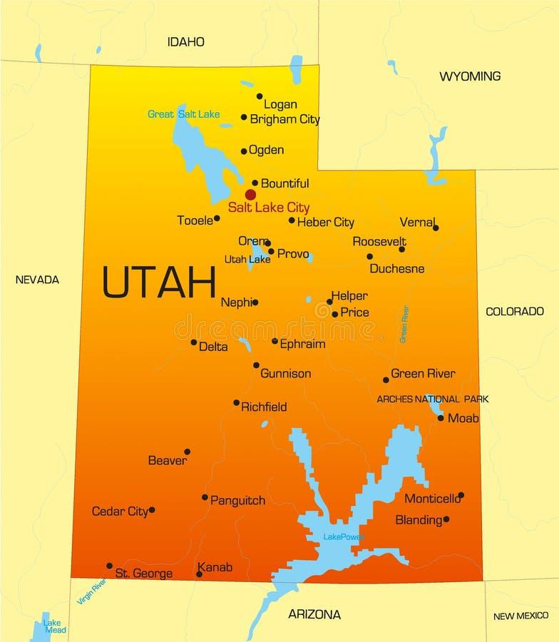 Utah ilustracja wektor