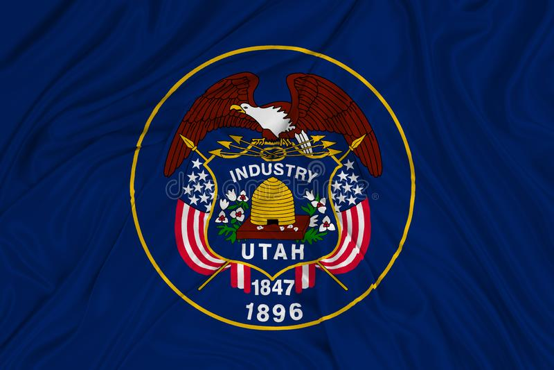 Utah bandery royalty ilustracja