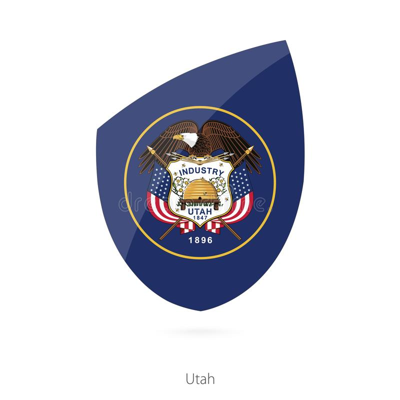 Utah bandery ilustracja wektor