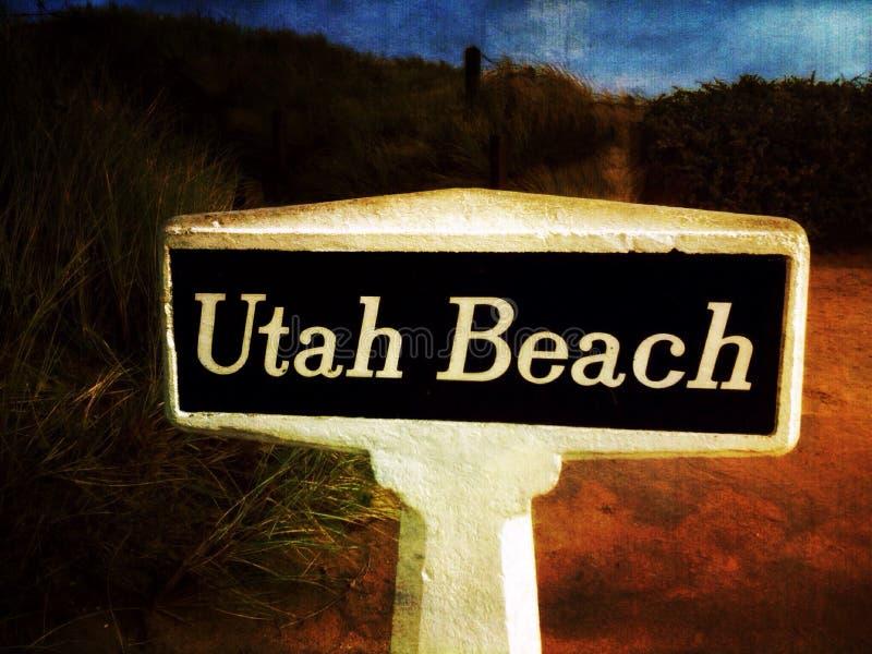Utah Beach royalty free stock photography