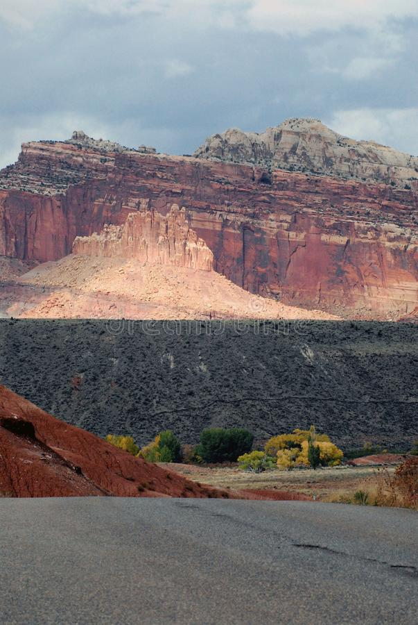 Utah- Beautifully Colorful Vertical Mountain Landscape royalty free stock photos