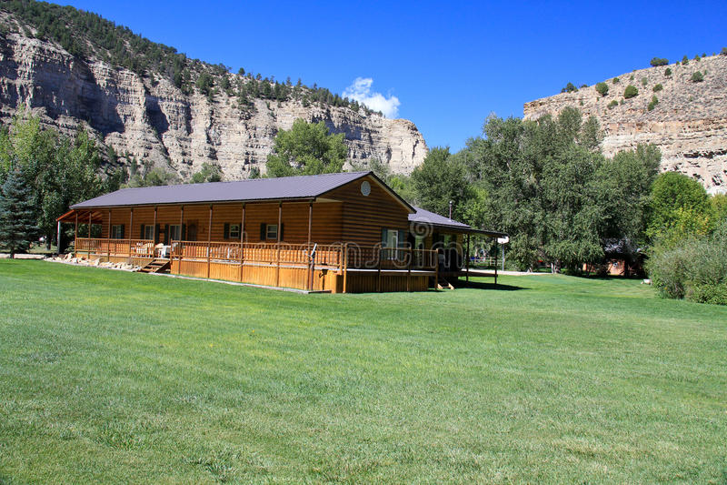 Utah Cabin - Ground view stock image