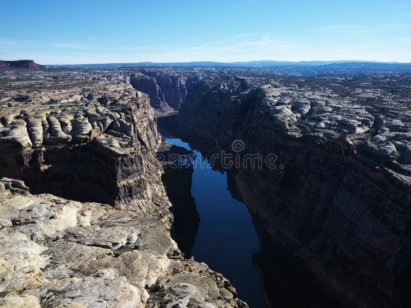 Utah Canyonlands aerial. stock image
