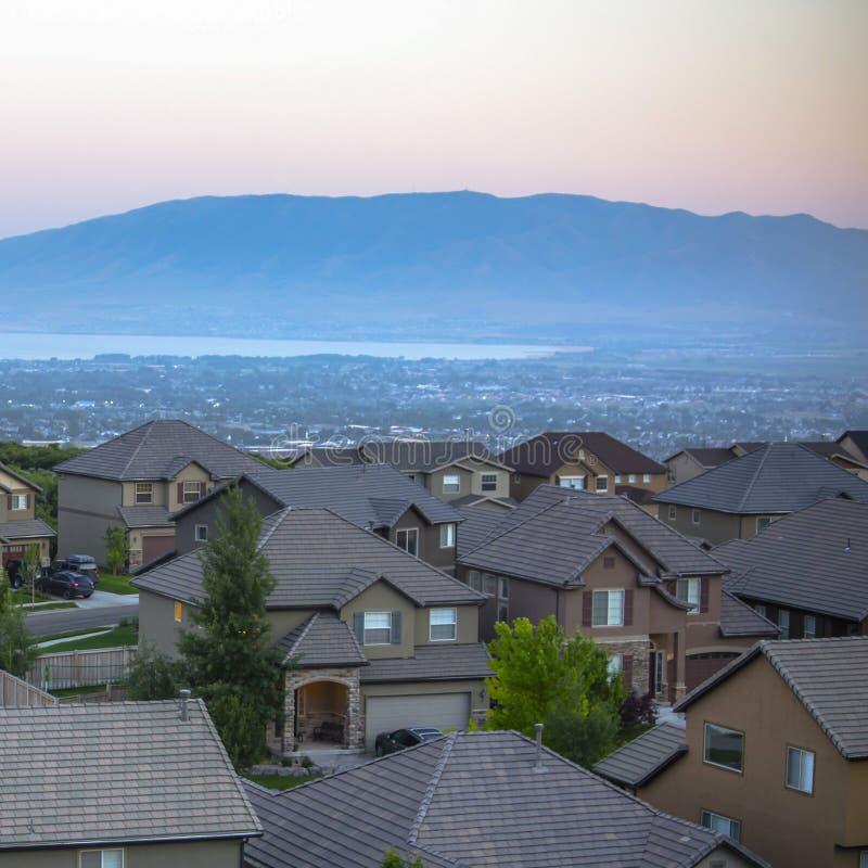 Utah dal- och bergsikter från backehem royaltyfri fotografi