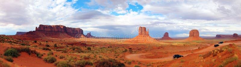 utah för tillstånd för arizona monumentpanorama enig dal arkivbild