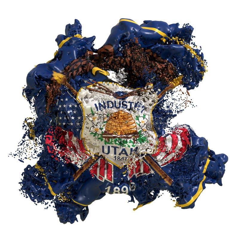 Utah flagi ciecz ilustracja wektor