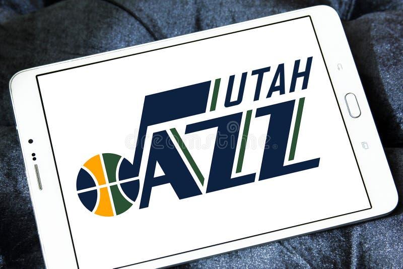 Utah- Jazzbasketball-team-Logo stockbild