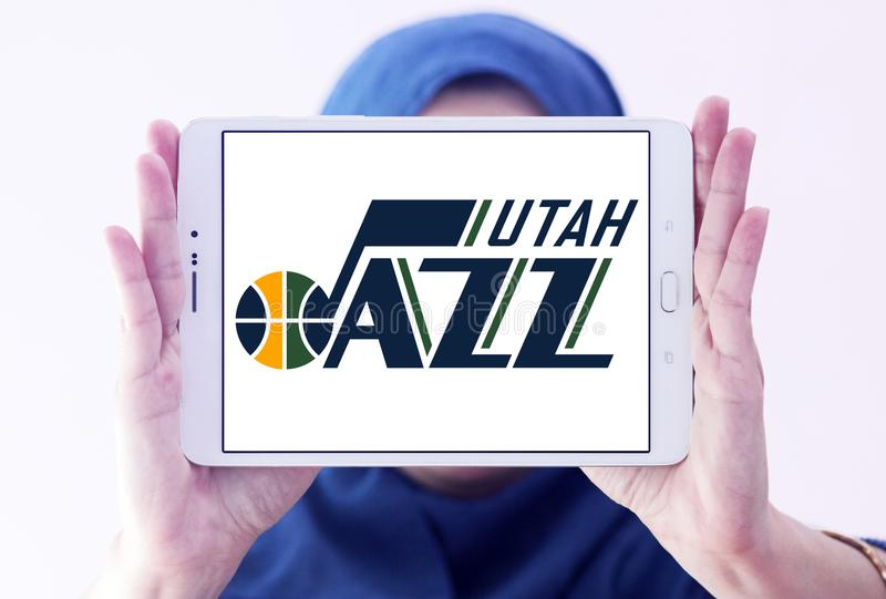 Utah- Jazzbasketball-team-Logo lizenzfreies stockfoto