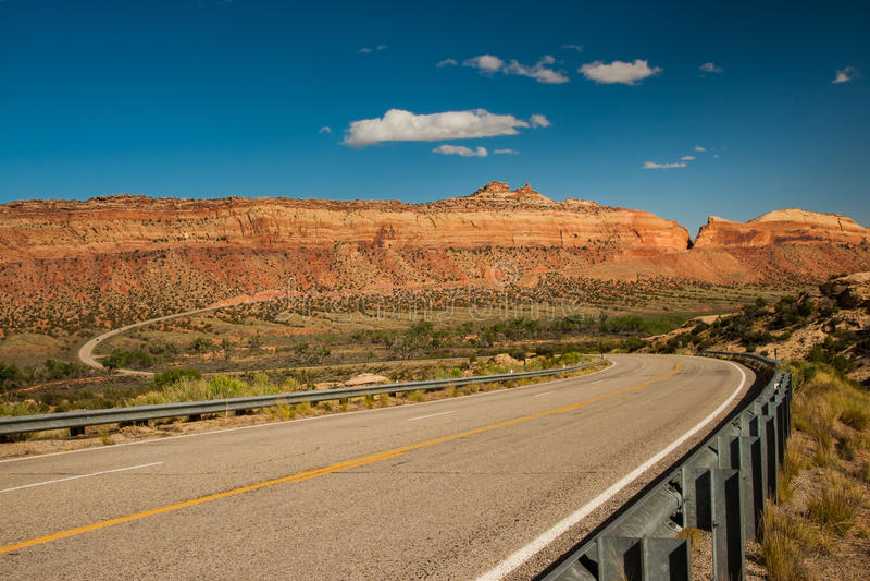 Utah-Landstraße 95 lizenzfreies stockfoto