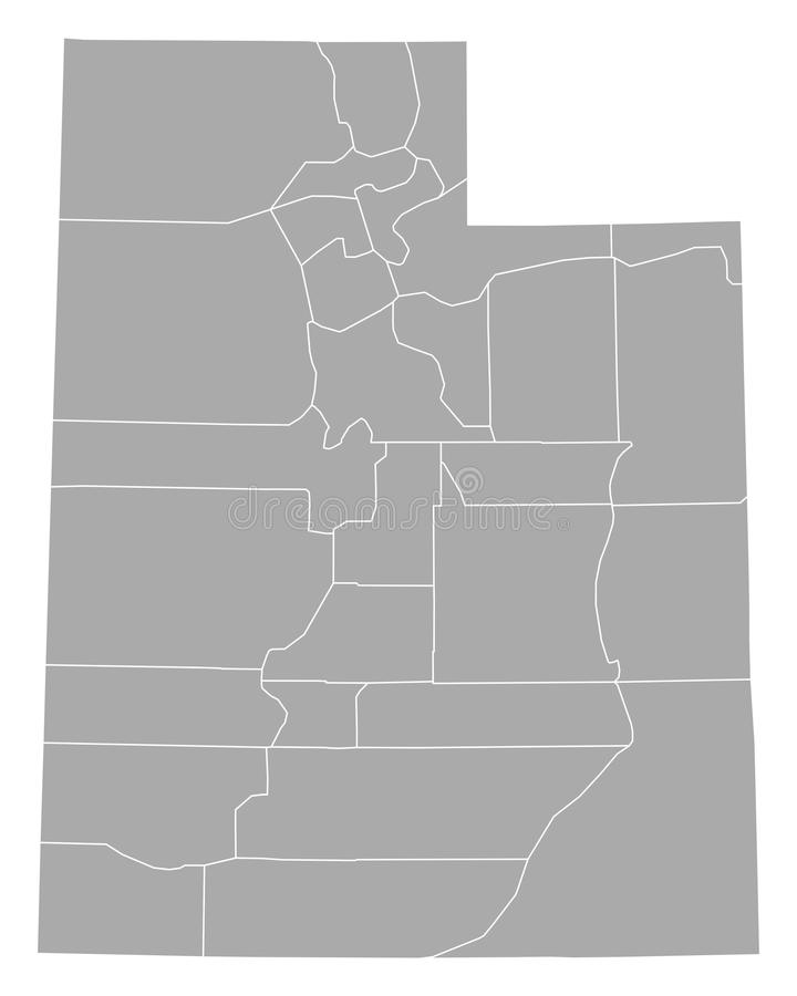 Utah mapa ilustracji