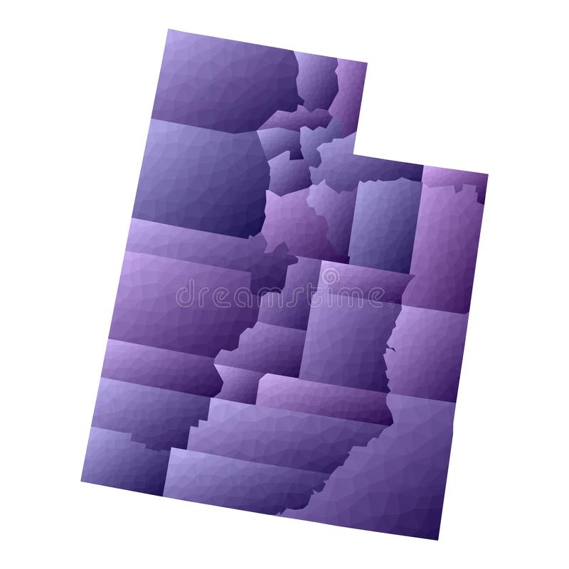 Utah mapa royalty ilustracja