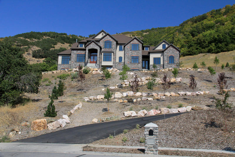 Utah: Mountain Home. Image of an upper class home in the mountains of Utah stock photography