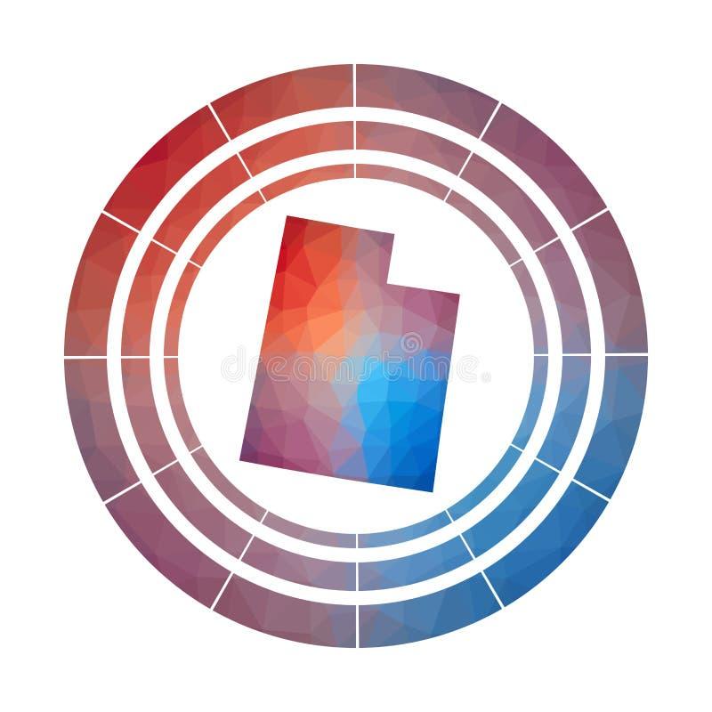 Utah odznaka ilustracja wektor