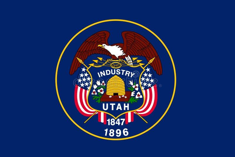 Utah państwa bandery royalty ilustracja