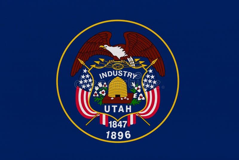 Utah państwa bandery ilustracja wektor