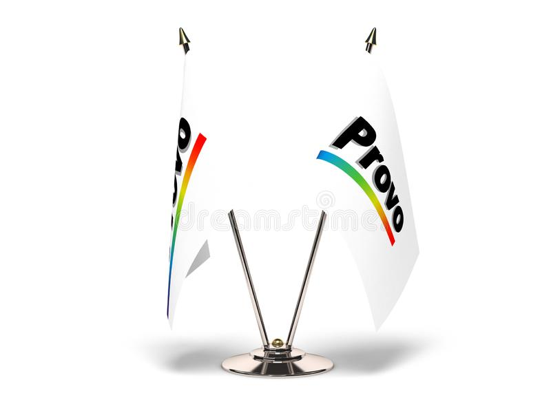 Utah Provo flaga ilustracji