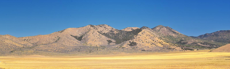 Utah Rocky Mountain Wasatch Panoramic Landscapes door Fishlake National Bos, langs 15 I-15 Tusen staten, door Holden, Fillmore, stock fotografie