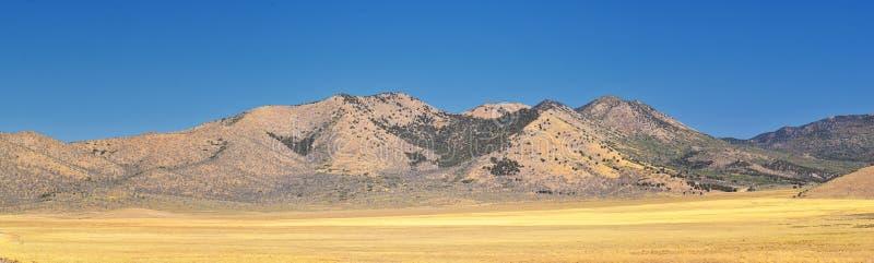 Utah Rocky Mountain Wasatch Panoramic Landscapes por el bosque del Estado de Fishlake, a lo largo de la autopista 15 I-15, a trav fotografía de archivo