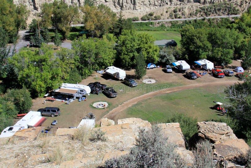 Utah: RV Kampieren lizenzfreies stockbild