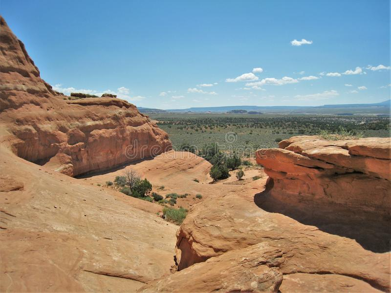 Utah`s Canyon Rims Recreation Area. Canyon Rims Recreation Area, an outdoor lovers playground, includes 100,273 acres south of Moab in southern Utah royalty free stock photos