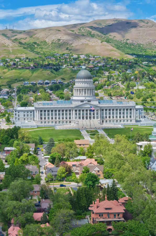 Utah stanu Capitol, Salt Lake City, usa fotografia royalty free