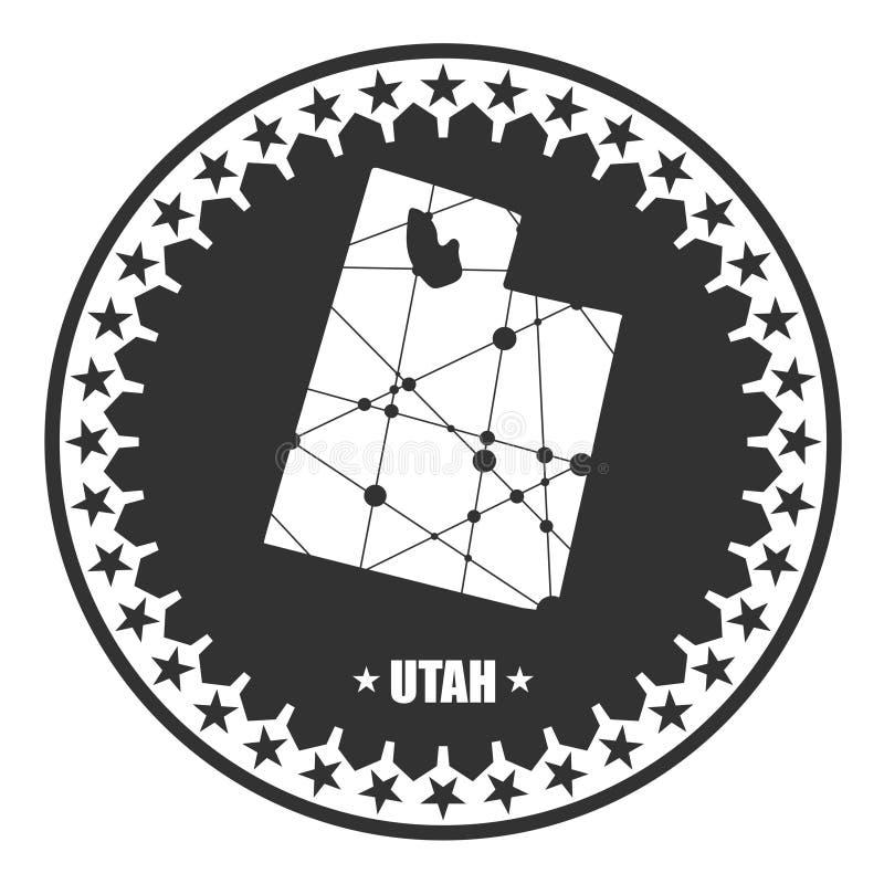 Utah stanu mapa ilustracja wektor
