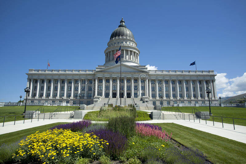 Utah State Capitol. A view of Utah State Capitol during the day in Salt Lack City stock images