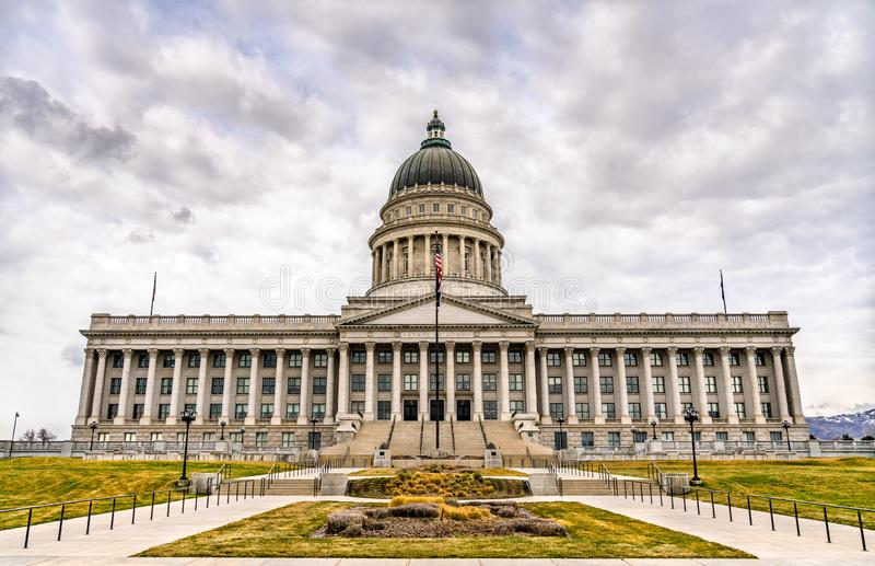 Utah State Capitol Building in Salt Lake City. United States stock photography