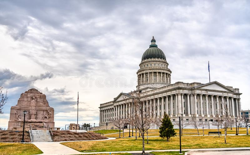 Utah State Capitol Building in Salt Lake City stockbilder