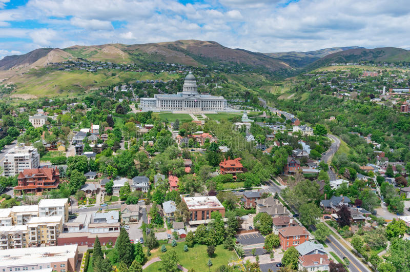 Utah State Capitol, USA. Utah State Capitol is the house of government for the U.S. state of Utah. USA stock image