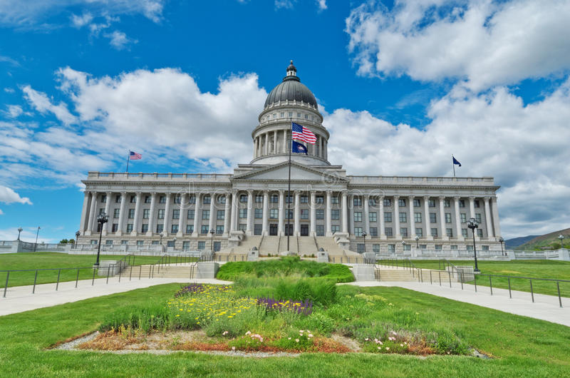 Utah State Capitol, USA. Utah State Capitol is the house of government for the U.S. state of Utah. USA royalty free stock images