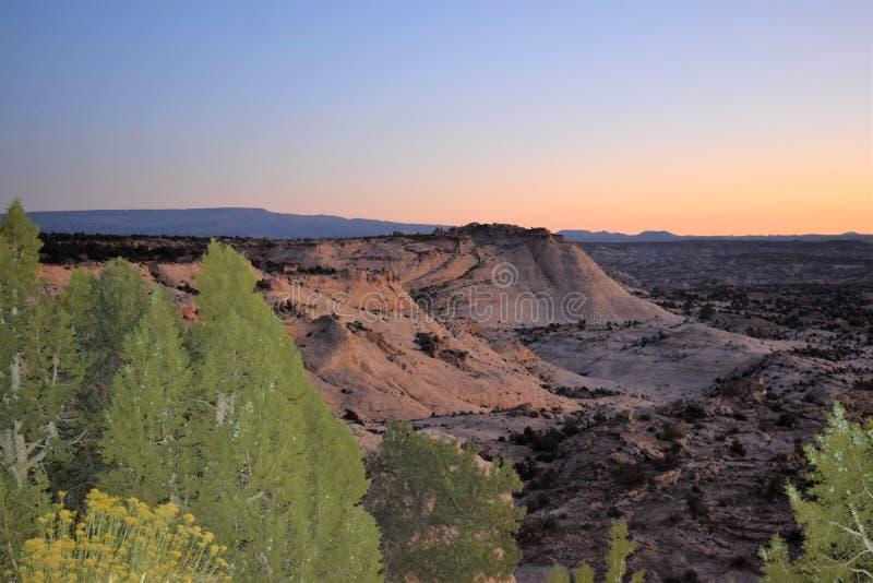 Utah State Route 14 Markagaunt High Plateau Scenic di Sunrise fotografia stock